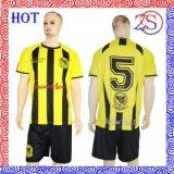 Fertigt kurzes Hülsen-Fußball-Uniform-Hemd kundenspezifisch an