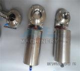 Нержавеющая сталь 304 316L Tri зажим ручной/ пневматического санитарных двухстворчатый клапан