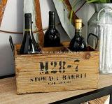 Artesanales de Madera de alta calidad baratos Cajas Caja de vino a la venta con asa metálica