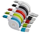 1m de fideos plana retráctil de sincronización de datos cable micro USB cargador de teléfono Cable USB para iPhone