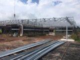 Edificio de la estructura de acero de hoja de acero del color/taller fuertes/Warehouse563