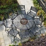 Piscina Jardim móveis em alumínio fundido Definir Tabela churrascos