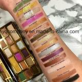 Demasiado enfrentou Ouro Chocolate 16 cores cintilantes +Eyeshadow paleta de cores mate
