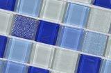 Mosaico del vidrio cristalino del color y de la chispa del oro