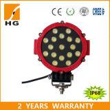 luces redondas de la lámpara 7inch del trabajo de la linterna LED de 51W LED