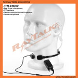 RTM-024030 Throat Microphone Headset con Covert Air Tube Earpiece