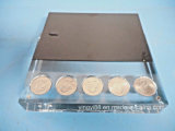 硬貨のための自由で永続的なアクリルの表示ブロック