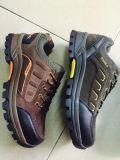 Затавренные ботинки безопасности, реальные кожаный ботинки, ботинки безопасности неподдельной кожи