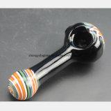 Schwarzes Wasser-Rohr Flammen, die Glas-Pfeife formen