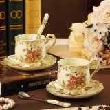 Tazza di ceramica del caffè espresso della porcellana della tazza e del piattino di caffè di disegno europeo