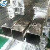 Grit miroir poli 316 316L Tube carré en acier inoxydable 304 100x100 Prix de tuyau