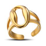 Дамы Золотой палец кольцо Ювелирные изделия