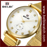 Belbi Frauen-einfache Form-Geschäfts-Quarz-Uhr-wasserdichter Streifen-Tisch