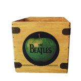 """Os Beatles Caixa Gravar 7"""" na caixa de Registros de maçã de vinil Engradado de madeira Vintage Retro"""