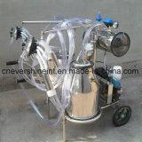 Ordenhador Vaca elétrico máquina de ordenha balde duplo SS