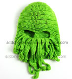 Le seul crochet de main de masque de poulpe a fait le chapeau tricoté de tricotage de l'hiver