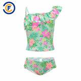 새로운 디자인 인쇄 소녀 비키니 고정되는 수영복 수영복