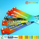 Impressão personalizada NTAG BILHETE ELECTRÓNICO descartáveis213 bracelete inteligente ABS RFID