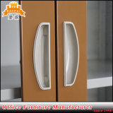 Casellario di vetro della porta a battenti con due cassetti