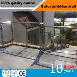 La moderna de acero inoxidable barandilla de vidrio para la baranda de balcón