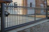 Deslizamiento ornamenta con un resistente Puerta de hierro forjado.