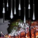 Openlucht Lichten met de AMPÈRE van 8 van de Buis van de Meteoor van de Douche Lichten van de Regen; Zonne Aangedreven Ijskegel