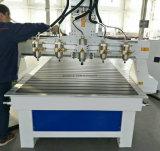 Four-Spindles 3D Router CNC para trabalhar madeira gravura e conquistando a máquina