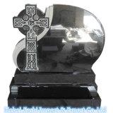高品質の黒い花こう岩のケルト族十字記念碑Headsone