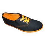 Chaussures en gros d'école de chaussures de toile de filles