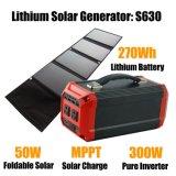El sistema de panel solar de 300W de energía solar generador solar Banco para el Camping