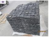 暗い灰色の花こう岩の敷石100X100X35-50mm