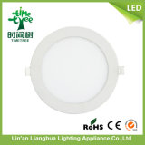 15W Round Square DEL Sidelight Panel avec Aluminum Housing