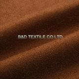 Tissu 100% de suède de polyester de chaîne de suède pour des vêtements