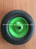 Rodas pneumáticas do Wheelbarrow da venda 3.50-4 quentes com borda de aço