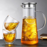 Pyrexガラス水やかんのガラス製品ガラス水水差しセット