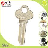 Latão Niquelado Lw4 chave em branco para cadeados