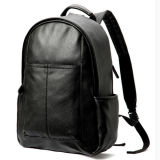 PU Leather School Bag Backpack Black способа для подростков