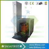 2m elektrische hydraulische vertikale Treppen-Person-Sperrungs-Aufzug-Plattform