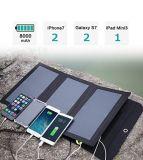 iPhone 7/6sのための二重USBのポートの防水Foldableの太陽電池パネルは/と、2/のギャラクシーS7/S6/端/と小型プロ/空気iPad 5つ/4のLG、関連およびCAに注意する
