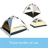 Kampierendes Zelt-wasserdichte windundurchlässige im Freien, 3 Personen-automatische sofortige wandernd, knallen oben Zelt
