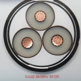 Schwarzes der Belüftung-Hüllen-XLPE Kabel Isolierungs-Stahldraht-gepanzertes kupfernes Energien-des Kabel-Yjv32- 0.6/1kv
