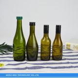 Commerce de gros 187ml Champange vin Bouteille de verre ambré