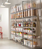 Génial Cuisine Pantry Idées sur le fil de métal chromé de stockage de produits en conserve Rack de stockage