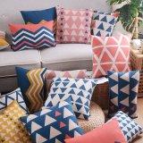 Retângulo durável almofadas decorativas simples de algodão no leito