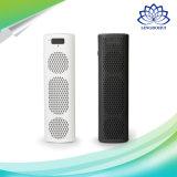 Haut-parleur sans fil de bureau noir et blanc de minimalisme mini