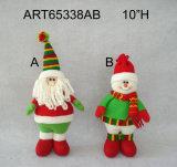 """10 """" H che si levano in piedi la decorazione Gift-2asst di natale del pupazzo di neve della Santa"""