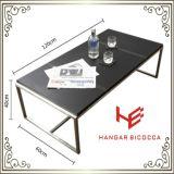 Tabela moderna do canto da tabela do lado da mesa de centro da mobília do hotel da mobília da HOME da mobília do aço inoxidável de tabela de chá da tabela de console da tabela da mobília (RS161003)