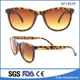 Frauen-Entwerfer der Sonnenbrille-UV400, Demi Rahmen mit Steigungbrown-Objektiv