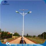 Luz de rua dobro do diodo emissor de luz da potência solar de Burid da bateria acidificada ao chumbo da lâmpada