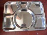 Plateau de déjeuner de l'acier inoxydable Ss18/8